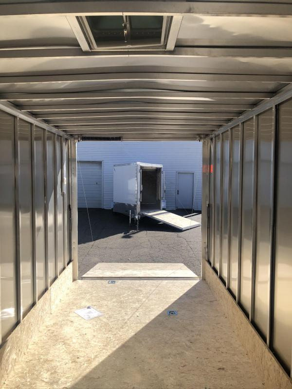 New 7X23 3-Place Enclosed Snowmobile Cargo Trailer with Extra Height