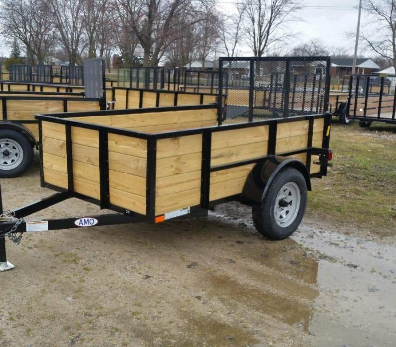 5 x 8 A.M.O. High Side Landscape Trailer 3k