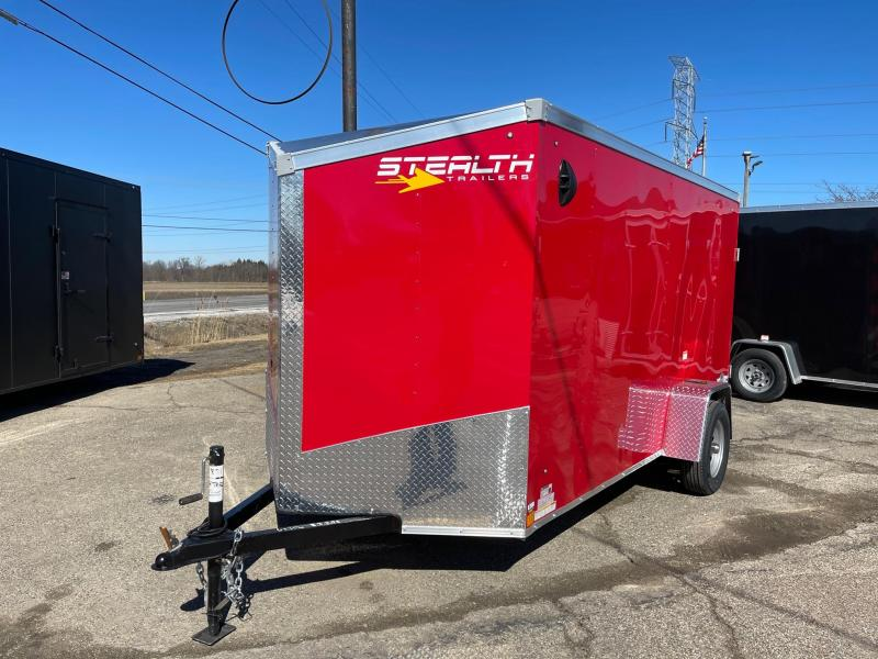 6x12 Stealth Mustang  Enclosed Trailer - w/ Ramp Door