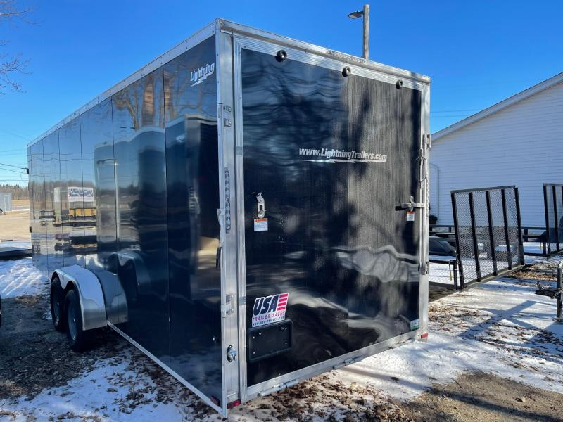New 7 X 29  5 -Place Enclosed Snowmobile Cargo Trailer with Extra Height