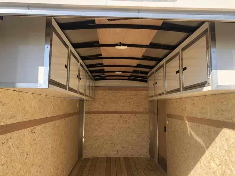 7X14 Pace Enclosed Trailer 10K - with Cabinets and extra height