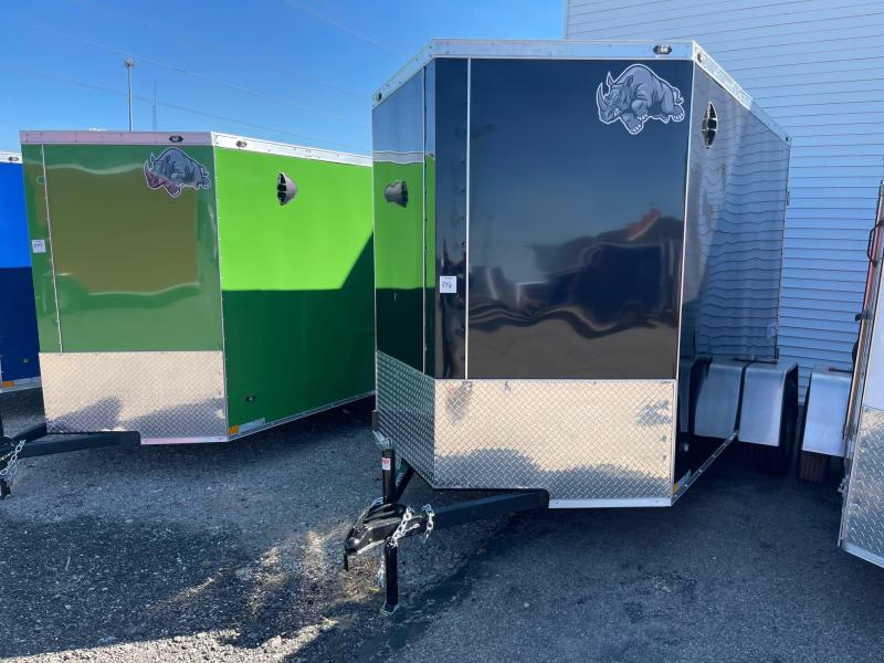 6x10 Rhino CUB  Enclosed Trailer - w/ Ramp Door EXTRA HEIGHT