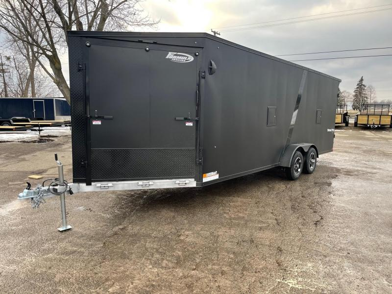 New 7 x 27 4 - Place Enclosed Aluminum Snowmobile Trailer LOADED!!!!!!