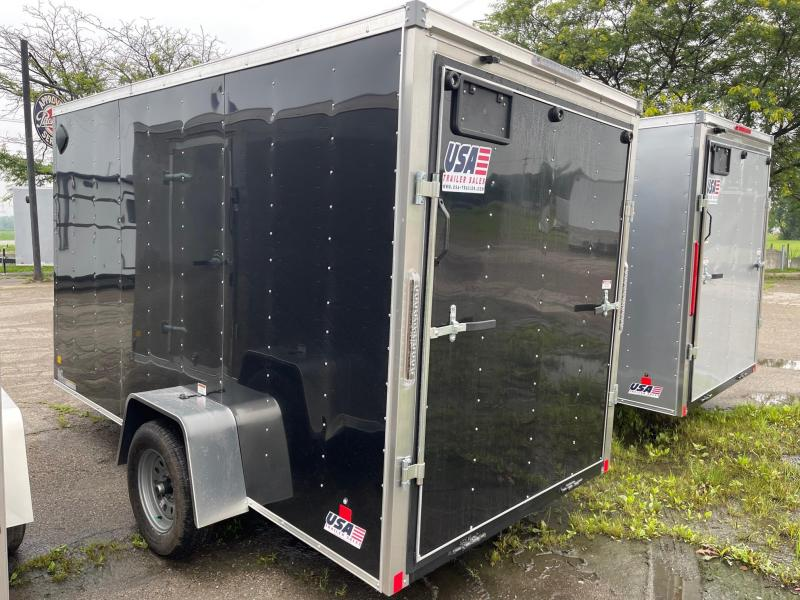 6x12 MTI Enclosed Trailer w/ Ramp Door (Single) WITH 6FT 6IN  INTERIOR