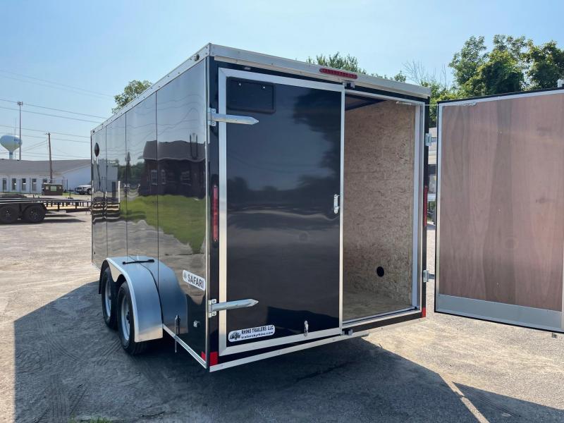 7 x 16 7K  EXTRA HEIGHT Rhino Safari - Enclosed Trailer - w/ BARN DOORS 7,000 GVW