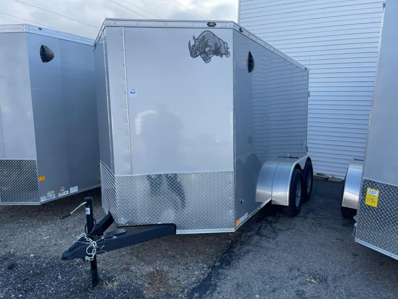 6 x 12 Rhino Cub - Tandem Enclosed Trailer - w/ Barn Door