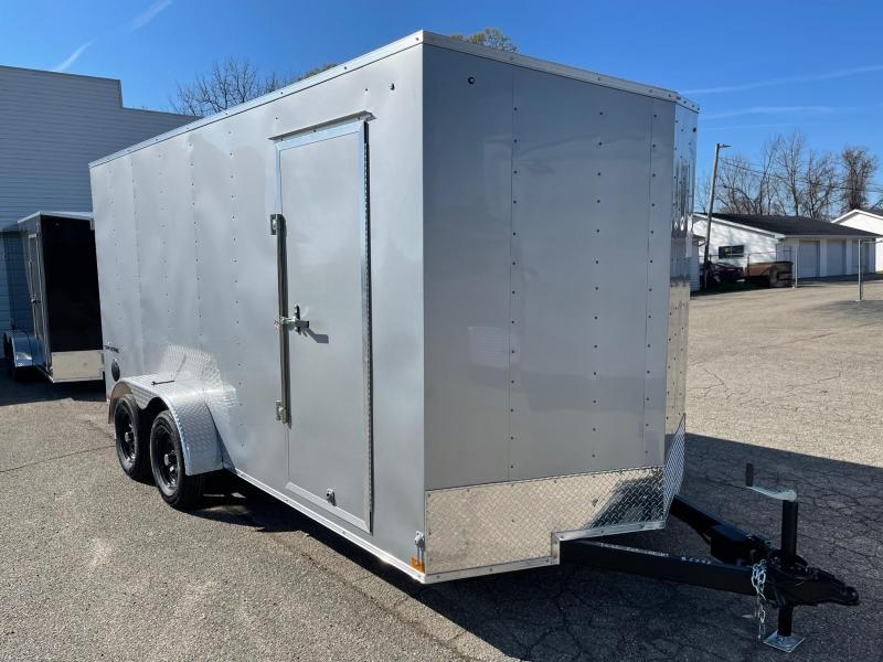 7 X 16 Enclosed V-Nose Trailer W - Ramp Door with EXTRA HEIGHT