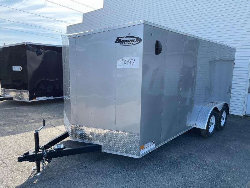 7 X 16 Enclosed V-Nose Trailer W - Ramp Door