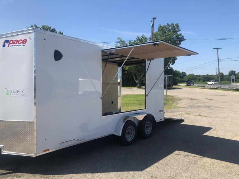 7 x 16 Pace American Enclosed Tailer with Concession Awning
