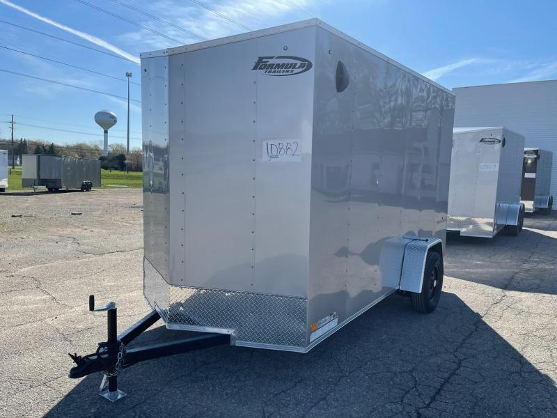 6 X 12 Enclosed V-Nose Trailer W - Ramp Door EXTRA HEIGHT