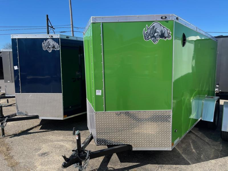 6x12 Rhino CUB  Enclosed Trailer - w/ Ramp Door