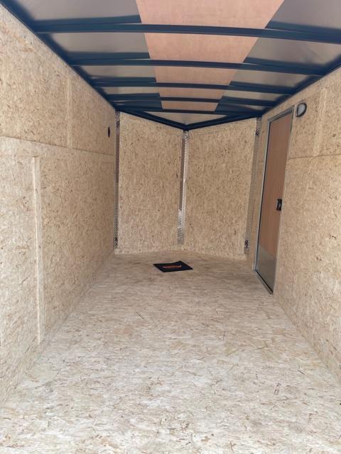 6 X 12 Enclosed V-Nose Trailer W - Ramp Door