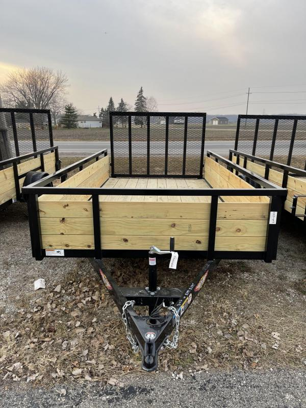 2021 76 x 12 H and H Trailer STEEL WOOD SIDES 3.5K