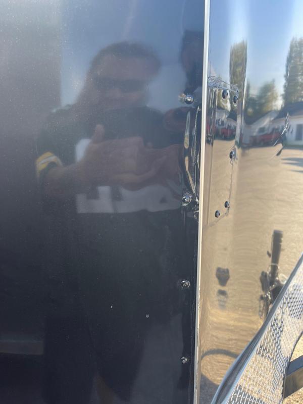 7 x 16  Rhino Safari - Enclosed Trailer - w/ Ramp Door  7ft Interior - DAMAGED -