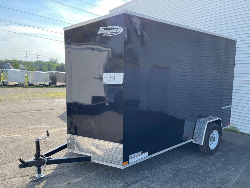 6 X 12 Enclosed 7ft Interior Height V-Nose Trailer W - Ramp Door