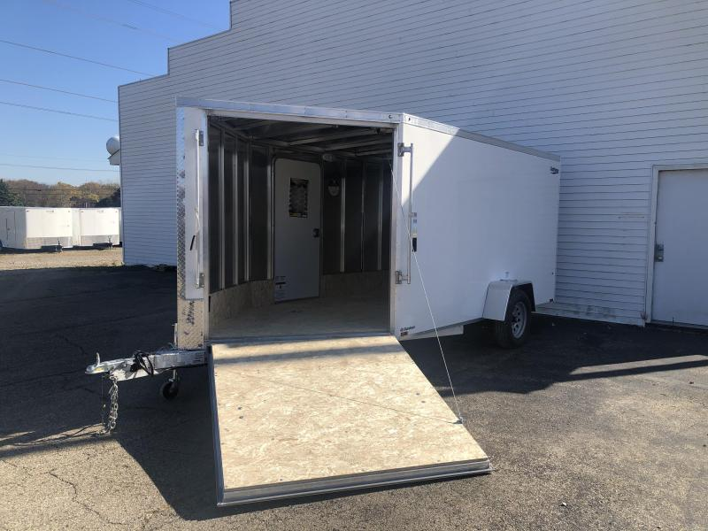 New 7X17 2 -Place Enclosed Snowmobile Cargo Trailer