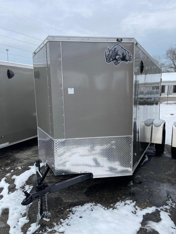 6x12 Rhino ( CUB ( - Enclosed Trailer - w/ Ramp Door