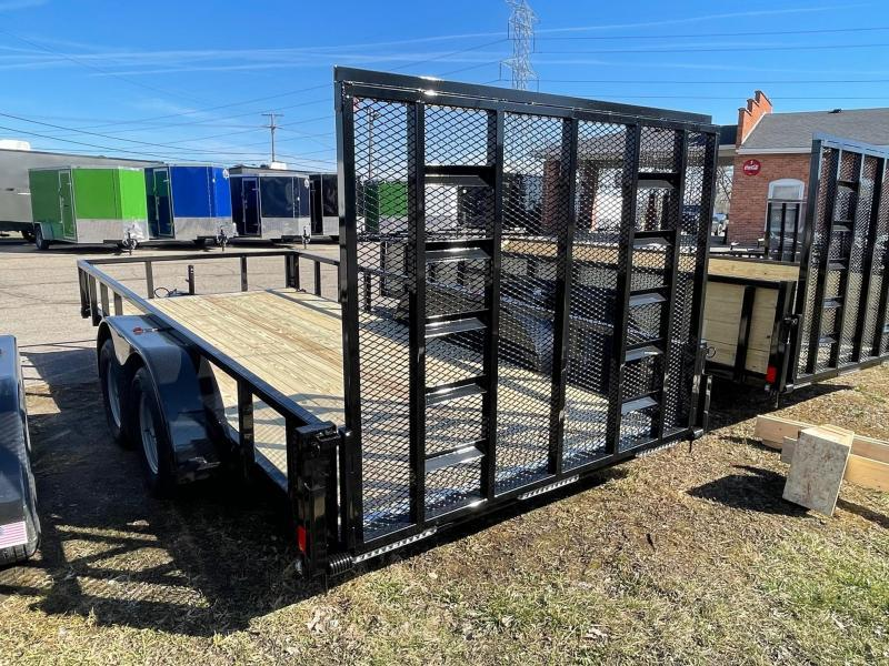 6FT 8IN x 18 ( 80 x 216 ) RHINO Tandem Landscape Trailer - 1 Axle Brake