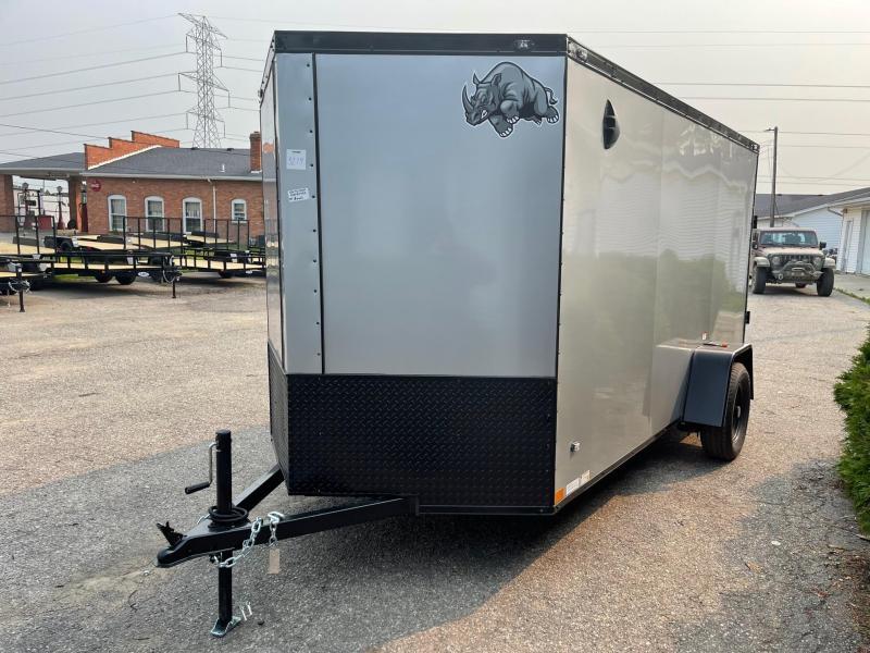 6x12 Rhino ( CUB ) - Enclosed Trailer - w/ Ramp Door  6ft Interior