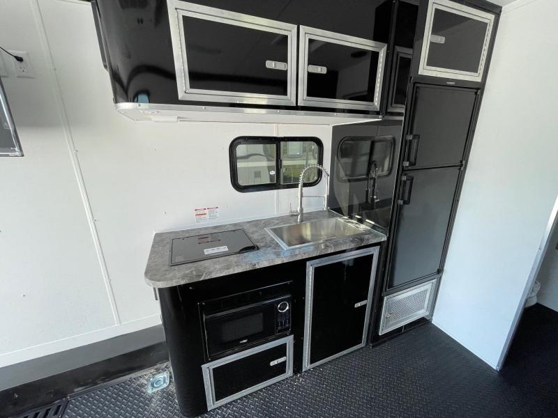Toy Hauler w/ Living Quarters:8.5 X 24 STEALTH NOMAD 12K Enclosed Car Trailer FB Model