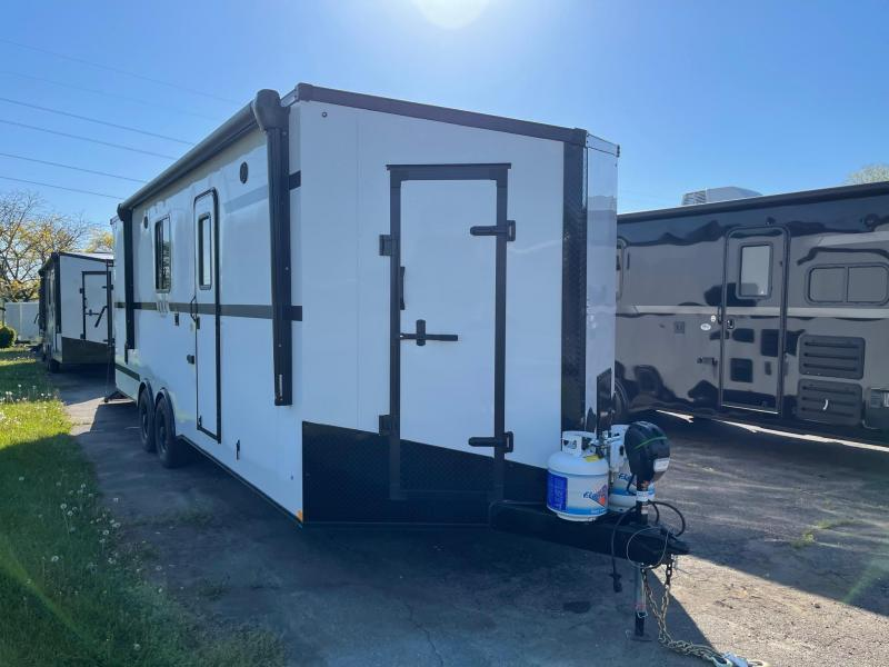 Toy Hauler w/ Living Quarters:8.5 X 24 STEALTH NOMAD 12K Enclosed Car Trailer FB Model