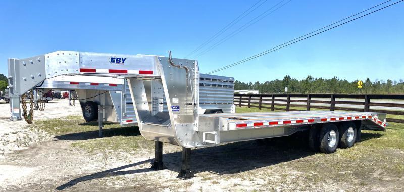 2021 EBY 25' Gooseneck Livestock Trailer