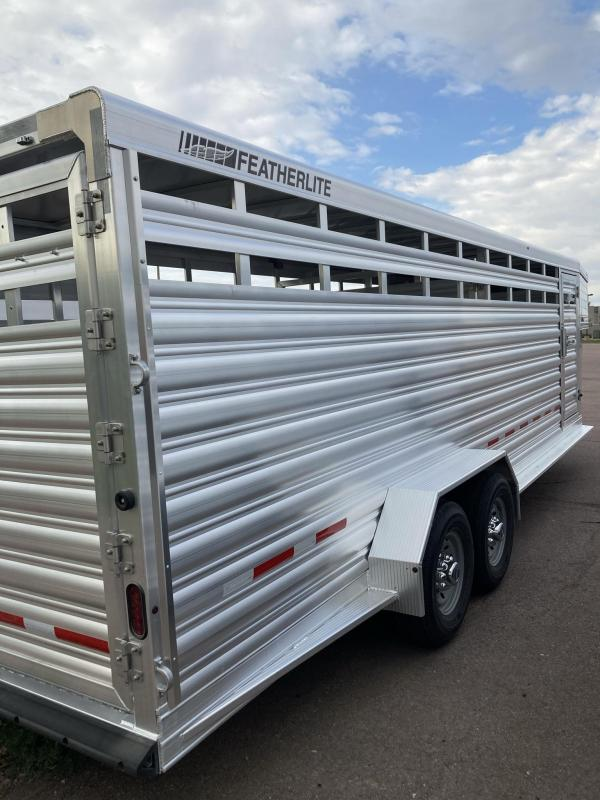 "2022 Featherlite 8117 6'7"" x 24' Livestock Trailer"