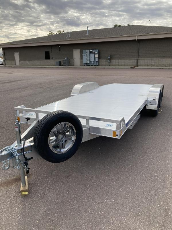 2021 Mission Aluminum 8 x 20 Open Car Hauler Car Racing Trailer