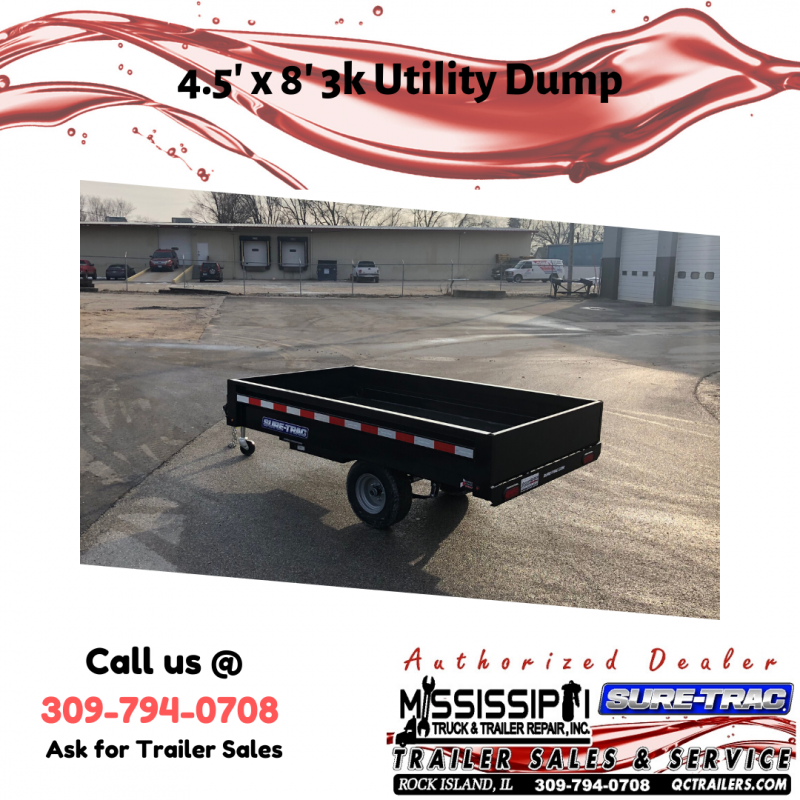 2020 Sure-Trac 4.5 x 8ft Utility Dump Trailer