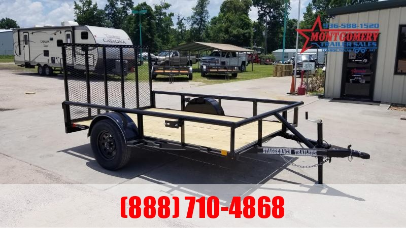 2021 Stagecoach SC72X10 S/A Utility Trailer