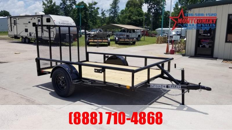 Stagecoach SC72X10 S/A Utility Trailer