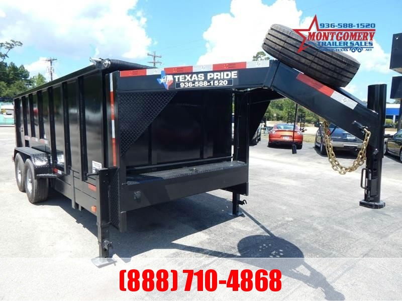 2021 TEXAS PRIDE 16' Dump Trailer Special 4' Sides