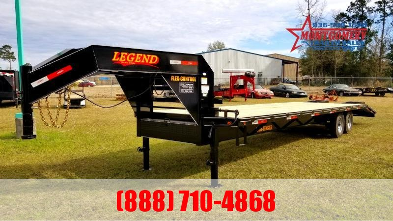 2020 Legend Flatbed Gooseneck Trailers 30 14K Tandem Flatbed Trailer