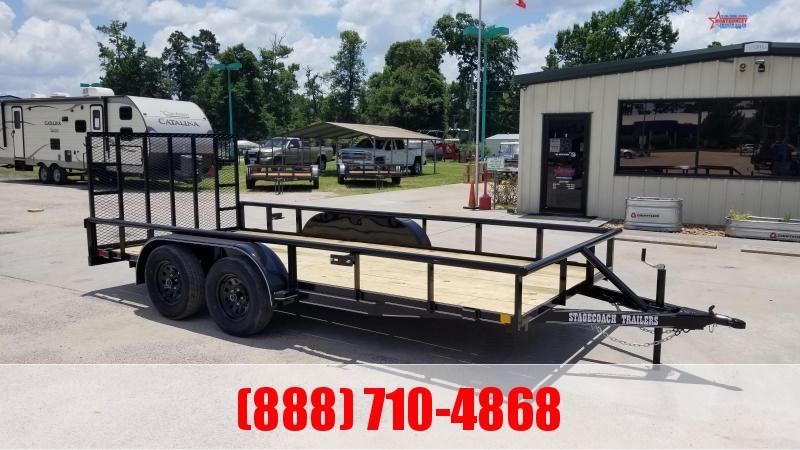 2020 Stagecoach SC77X16TA Utility Trailer