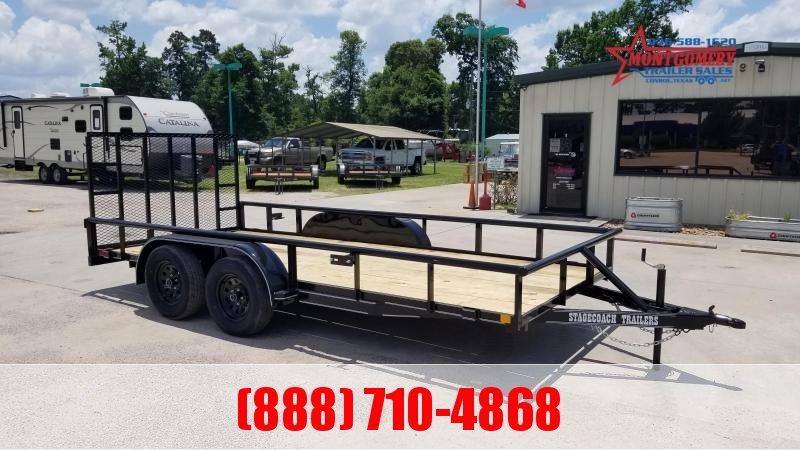 2021 Stagecoach SC77X16TA Utility Trailer