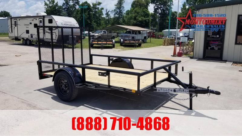 2021 Stagecoach SC72X12 S/A Utility Trailer