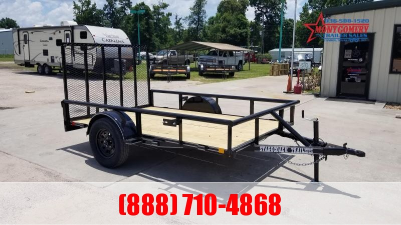 Stagecoach SC72X12 S/A Utility Trailer