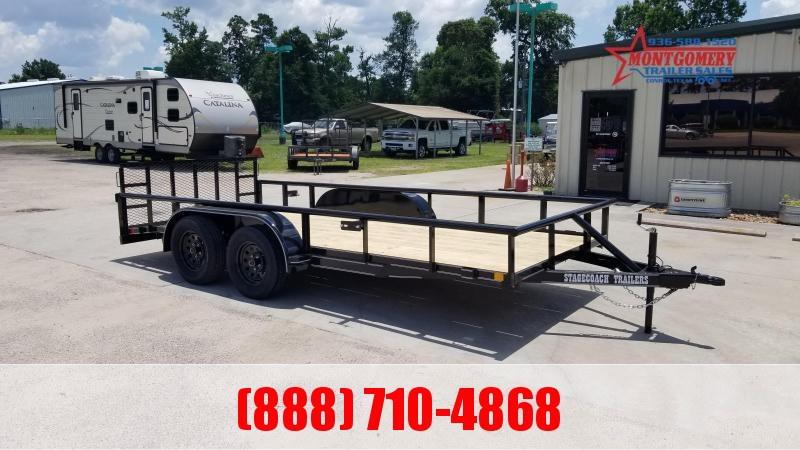 2021 Stagecoach SC77X16TA DTRG Utility Trailer