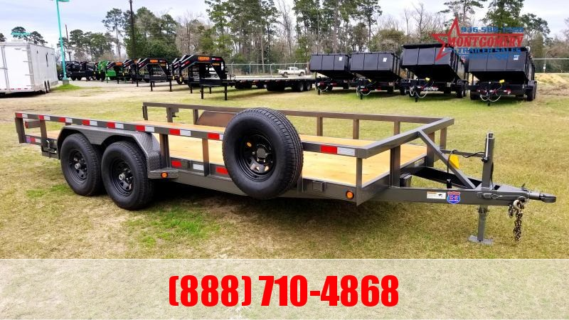 "Chuys C5 Trailers LOWBOY 83""X20' Equipment Trailer"