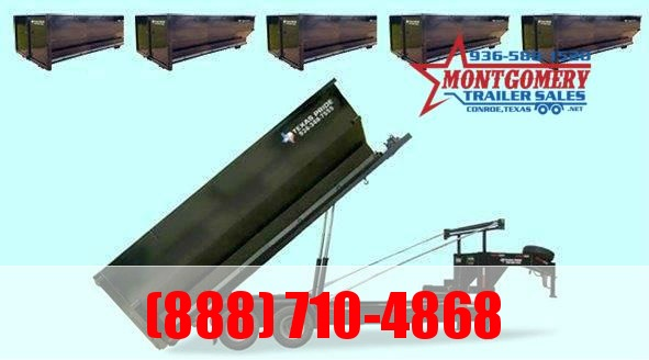 2021 TEXAS PRIDE Dual Tandem Roll Off Dump with five 18-Yard-Dumpsters