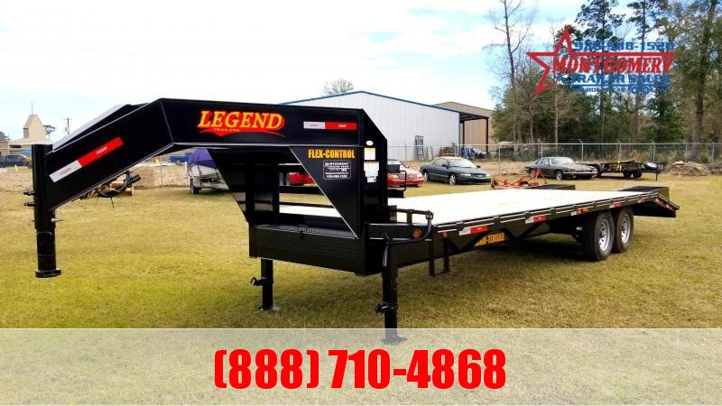 2020 Legend Flatbed Gooseneck Trailers 25 14K Tandem Flatbed Trailer