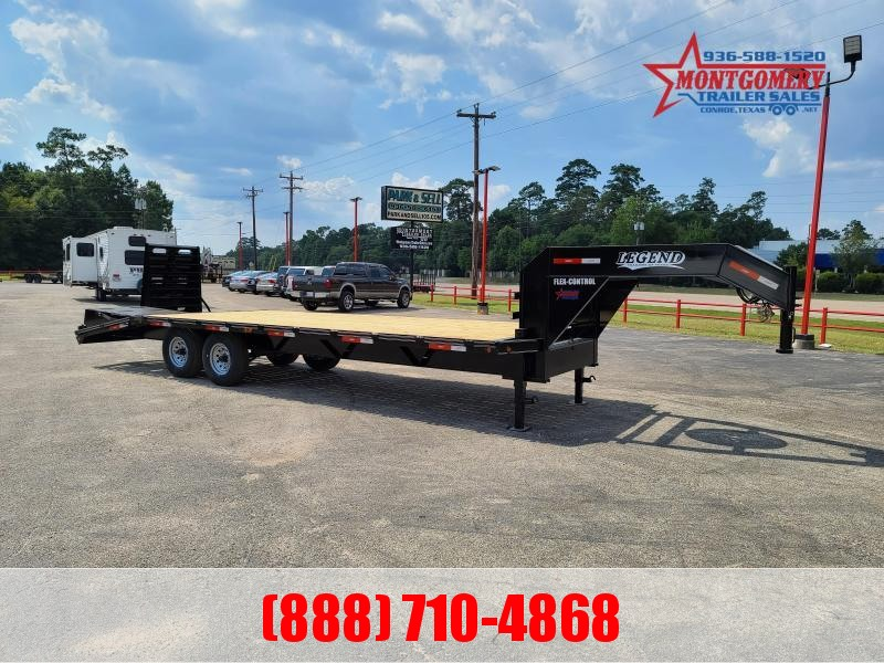 2020 Legend Flatbed Gooseneck Trailers 25 16K Tandem Flatbed Trailer