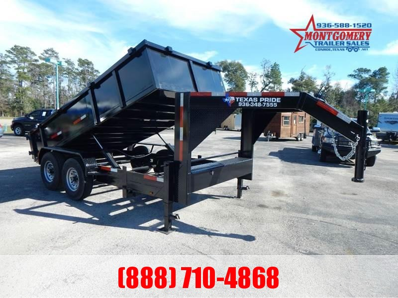 2020 TEXAS PRIDE 7' by 16' DUMP TRAILER GOOSENECK