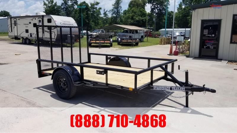2020 Stagecoach SC72X14 S/A Utility Trailer