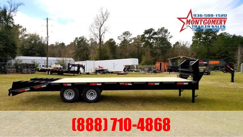 2021 Legend Flatbed Gooseneck Trailers 25 16K Tandem Flatbed Trailer