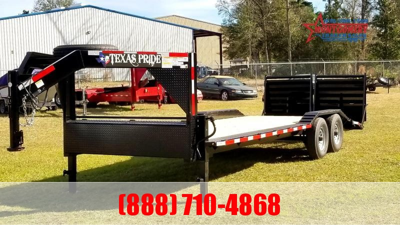 2021 Texas Pride Trailers 24 Gooseneck Lowboy Equipment Trailer