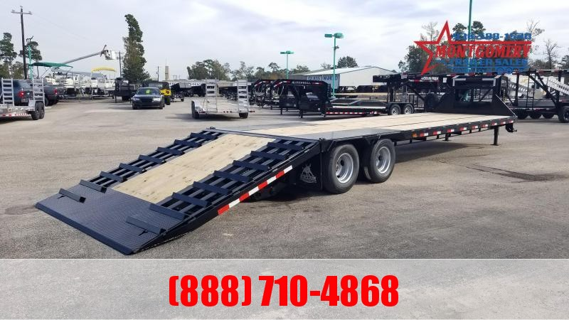2020 Iron Bull FHG - 22K Gooseneck Low-Pro Hydraulic Dove Tail Flatbed Trailer