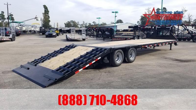 Iron Bull FHG - 22K Gooseneck Low-Pro Hydraulic Dove Tail Flatbed Trailer