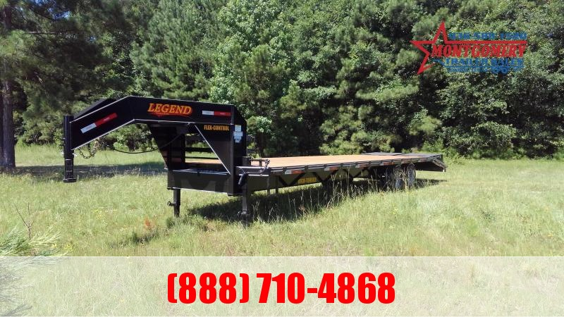 2020 Legend Flatbed Gooseneck Trailers 30 16K Tandem Flatbed Trailer