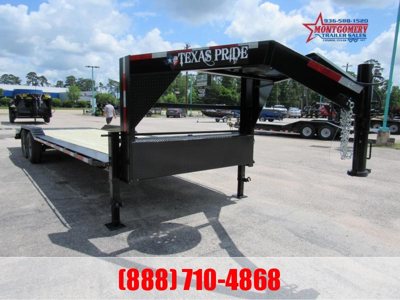 2021 Texas Pride Trailers 26' Gooseneck Lowboy Equipment Trailer